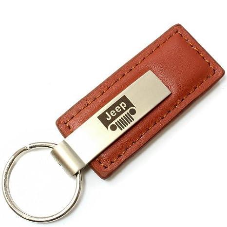 Toyota 4Runner Key Ring Black Leather Rectangular Keychain