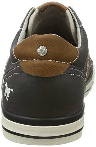 Mustang 3-tone Perforated Low Hombres Trainers Grau