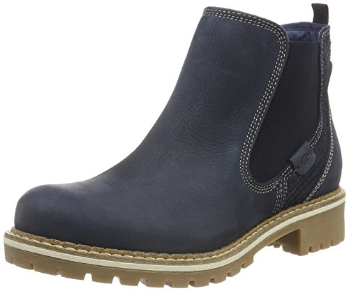 TOM TAILOR Damen 1694102 Chelsea Boots Blau (Navy)