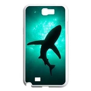 JFLIFE Deep Sea Shark Phone Case for samsung galaxy note2 White Shell Phone [Pattern-1]