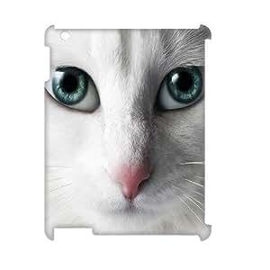 LZHCASE Diy Cover Custom Case Cat For IPad 2,3,4 [Pattern-1]