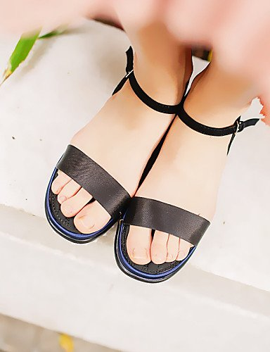 LFNLYX Zapatos de mujer-Plataforma-Creepers / Punta Redonda / Punta Abierta-Sandalias-Vestido-Microfibra-Azul / Negro / Rosa Pink