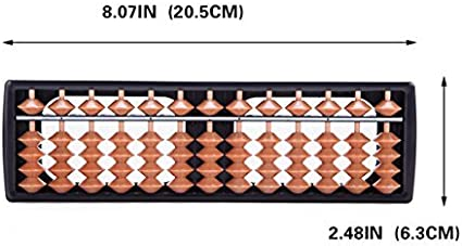 Premium Abacus 13 Digit Rods Standard Chinese Soroban Japanese Math Calculator