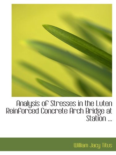 (Analysis of Stresses in the Luten Reinforced Concrete Arch Bridge at Station ...)