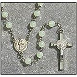 CB Catholic Rosary, Glow in the Dark! St. Benedict Luminous Rosary Crucifix Medal, 19-Inch