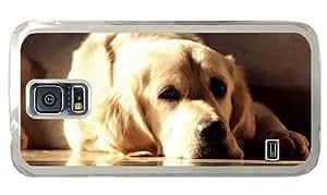 Hipster good Samsung Galaxy S5 Cases golden labrador PC Transparent for Samsung S5