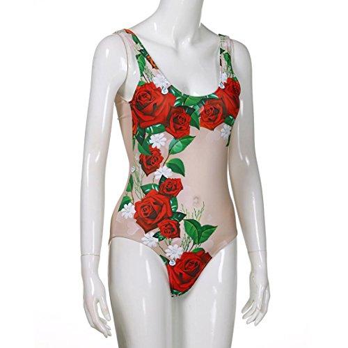 Donna Damen SANFASHION Ballerine bademode144 SANFASHION Rosso Bekleidung nwXwqxUCSa