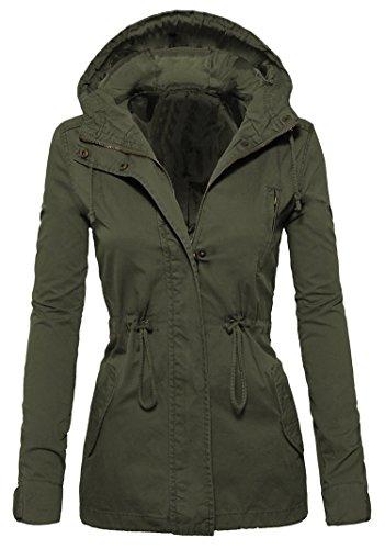 Lingswallow Womens Winter Warm Blue Oversize Woolen Fleece Coat Bomber Jacket