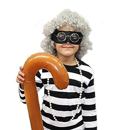 Robelli Gangster Niños Abuela/Abuela Máscara Disfraz Juego (Mundo ...