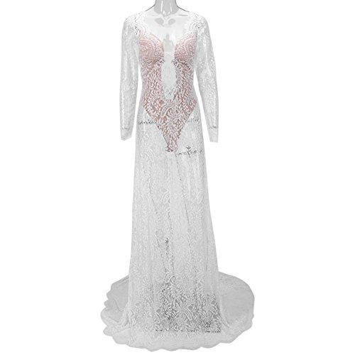 CHIC-CHIC-Robe de Mariee Robe de Mariage Manches courtes Dos nu Col rond Noeud Ceinture Fleur