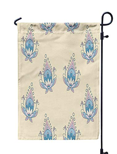 (GROOTEY Welcome Outdoor Garden Flag Home Yard Decorative 12X18 Inches Flower Ethnic Pattern Double Sided Seasonal Garden Flags)