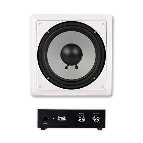 Acoustic Audio CS-IW10SUB In Wall 10'' Passive Subwoofer and Amplifier for Home Theater Surround by Acoustic Audio by Goldwood