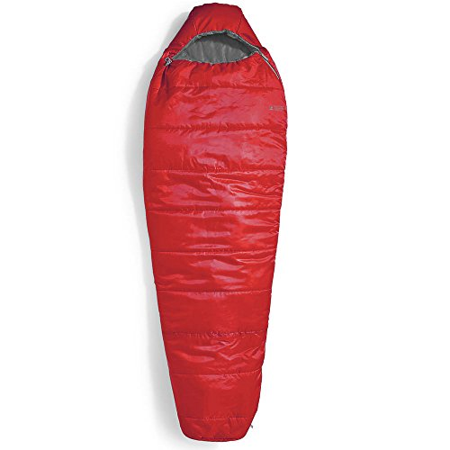 Eastern Mountain Sports EMS Solstice 20° Degree Sleeping Bag, Regular Chili Pepper/Pewter Red LEFT ZIP