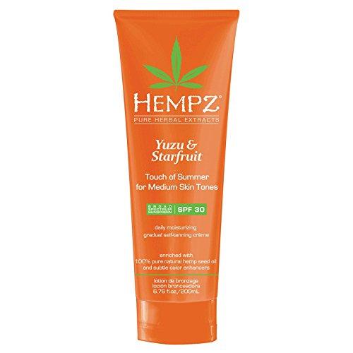 YUZU & STARFRUIT Touch of Summer - MEDIUM skin tones SPF 30 - Daily Gradual Self Tanning Creme