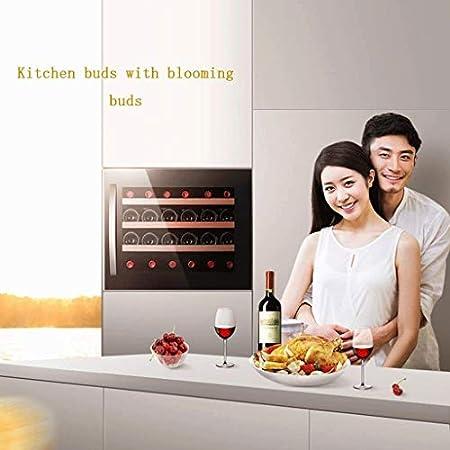 JJSFJH Vino de Refrigeración/Chiller |Mostrador Rojo y Blanco Bodega, Embedded Compresor gabinete del Vino de Hielo Bar Nevera conservación de Alimentos