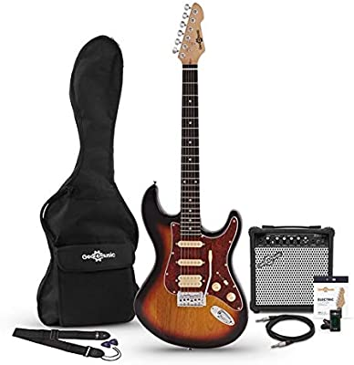 Set de Guitarra Electrica HSS LA + Amplificador Sunburst: Amazon ...