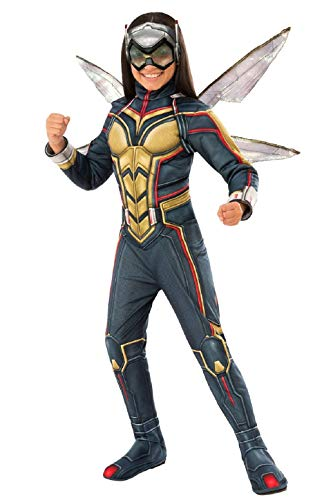 Marvel Girls Wasp Avengers Deluxe Halloween Costume with Wings Size Medium ()
