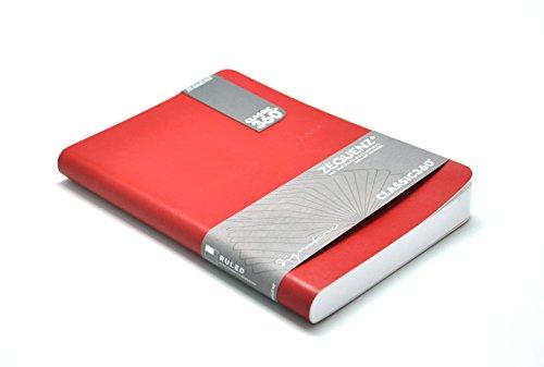 Zequenz Classic 360 Soft Cover Notebook, Soft Bound Journal, Red, Medium, 5