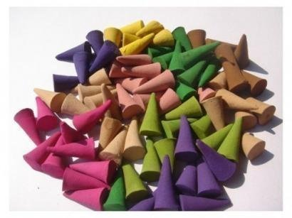 Incense Cone Mixed Variety of Scents Lavender Rose Peep Lamcngrass (Pack of 100 Cones ) Thai Enjoy Produck by Thaienjoy