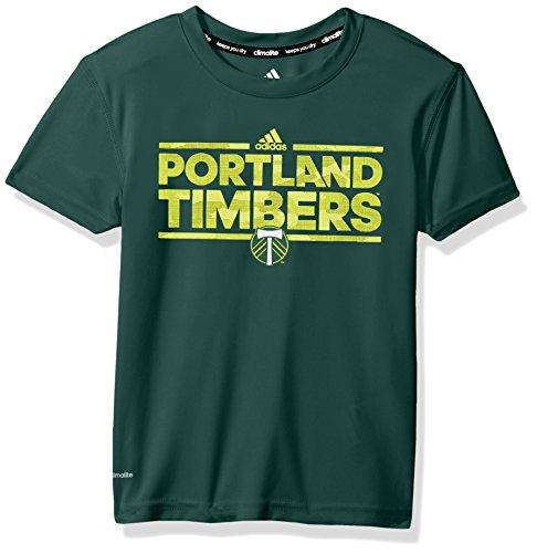 MLS Portland Timbers Boys -Climalite Short Sleeve Dassler Tactical, Hunter Green, Medium (10-12)