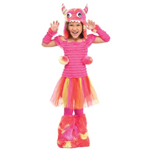 [Fun World Costumes Baby Girl's Wild Child Toddler Costume, Pink, Large(3T-4T)] (Halloween Costume World)