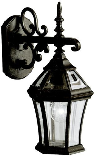 Kichler 9789TZ Townhouse Outdoor Wall 1-Light, Tannery Bronze