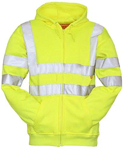 (Forever High Visibility Hi Vis Safety Hooded Sweatshirt Top)