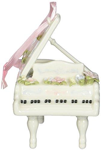 (Cosmos SF49002 Fine Porcelain Mini Piano Ornament Musical Figurine, 3-5/8-Inch)