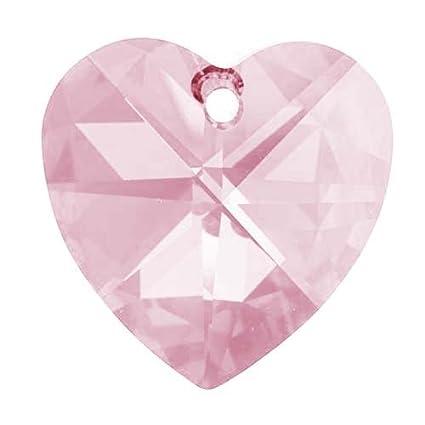458379563efbe Swarovski Crystal #6202 28mm Large Heart Pendant Rosaline Pink