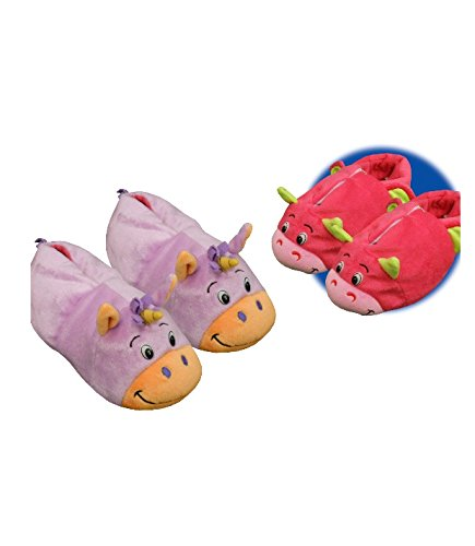 0752bb51b256 FlipaZoo Slippers Unicorn Transforming to Dragon Toddler Size Small - Two  in One Warm   Comfy Plush Slippers  Amazon.co.uk  Kitchen   Home