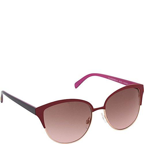 Jessica Simpson Women's J5373 RGDBY Non-Polarized Iridium Cateye Sunglasses, Rose Gold Berry, 55 mm