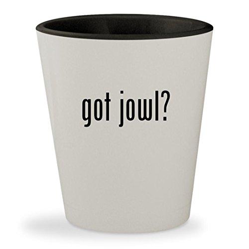 got jowl? - White Outer & Black Inner Ceramic 1.5oz Shot (Jowl Sweat)