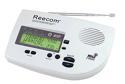 Unique 200 Hours Back-up Battery Life Time (Standby), Reecom R-1630C SAME Weather Alert Radio (Light Grey), 16 Siren Volume, EOM Detection, Display Event Message and Effective Time At a Glance
