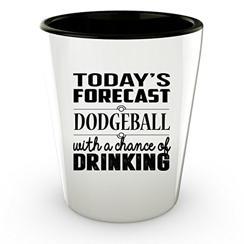 Dodgeball Globo Gym Costume (DODGEBALL Shot Glass - DODGEBALL Gifts - Unique Shot Glass, Coffee Cup)