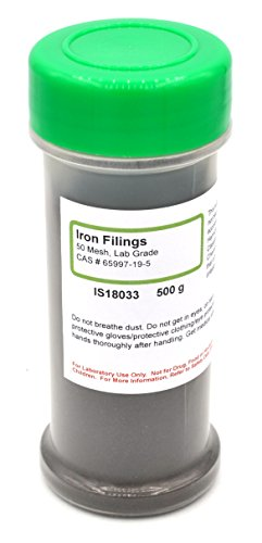 Coarse Iron Filings, 1.1lb (500g), Laboratory-Grade, Made in USA and MSDS Available - The Curated Chemical Collection (Iron Filings)