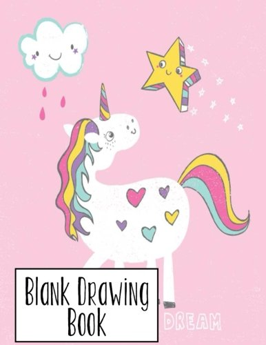 Blank Drawing Book: 100 pages 8.5x11 Large Sketchbook Journal (Unicorn Theme) (Volume 3)