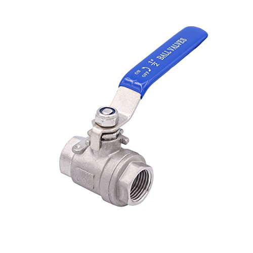 Dernord Full Port Ball Valve Stainless Steel 304 Heavy Duty for Water, Oil, and Gas with Blue Locking Handles (1/2'' NPT) by Dernord (Image #6)