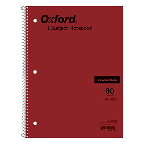 Ampad 25-210 Evidence Neo Notebooks, College Ruled With Margin Line, 1 Subject, Single Wire, 80 Sheets Per Notebook
