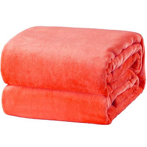 Bedsure Coral Fleece Blanket Twin Size (60