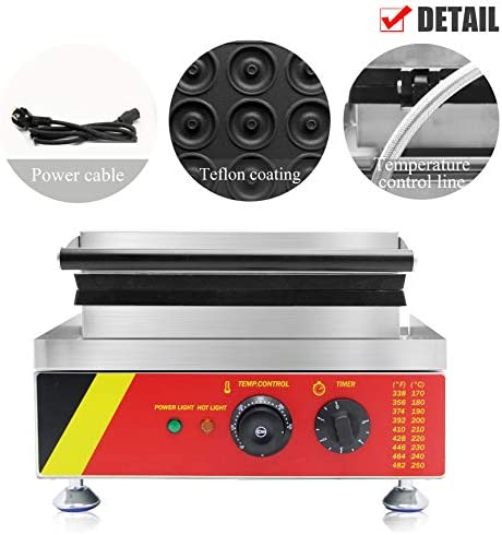 CGOLDENWALL Hot Dog Gaufrier 50-300℃ 6pcs Électrique Muffin Gaufre Machine No-stick 0-5 Minutes Timing 220V Certification CE NP-528