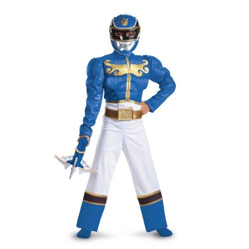 Disguise Power Ranger Megaforce Blue Ranger Boy's Muscle