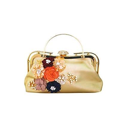 Buy BHUMITEJ Women Handbag Gold Color Stylish
