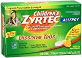 Zyrtec Children's Allergy Orally Disintegrating - 24 Tablets, Pack of 5