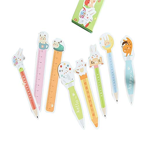 - | Bookmark | 10packs/lot Kawaii Cartoon Animal Paper Bookmark Cute School and Office Reminder Label Marker Holder Page Label Wholesale | by HERIUS