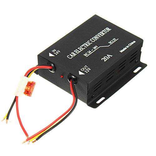 nvertor DC 24V To 12V 20A Power Supply Inverter Transformer - Car Electronics - Car Electronic Gadgets ()