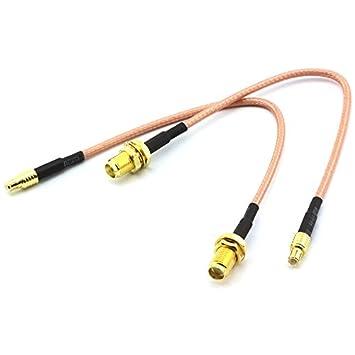 DZS Elec – 2pcs RG316 Cable Jumper 15 cm SMA hembra a MCX macho con línea