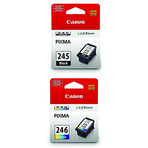 Canon PG-245 Black Cartridge with CL-246 Color Ink Cartridge