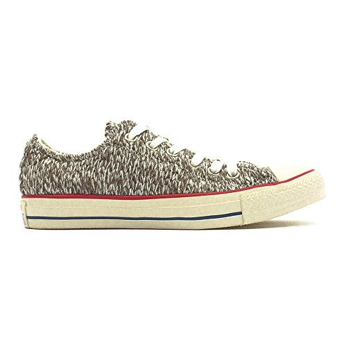 Converse All Star Ox Femme Baskets Mode Gris Anthracite