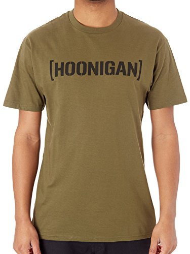 Hoonigan BRACKET LOGO SS T-Shirt Army - Large L
