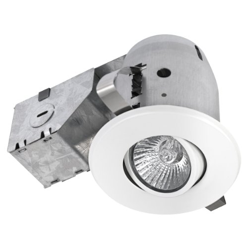 3' Dimmable Downlight Swivel Spotlight Recessed Lighting Kit, IC Rated with LED Bulb, Easy Install Push-N-Click Clips, Globe Electric 90679